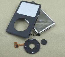 Full Black Faceplate Housing Case Clickwheel Button for iPod 7th Classic 160GB