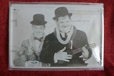 Laurel & Hardy - 2 Metal Sign Painted Poster Comics Book Superhero Wall Decor