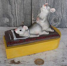 """Spardose Mausefalle Geldgeschenk """"Wenn die Mäuse knapp werden""""Sparschwein NEU"""