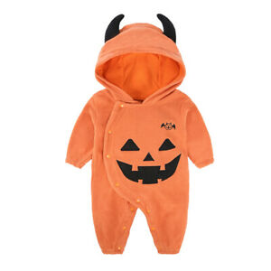 Baby Pumpkin Patch Costume Child Halloween Girl Boy Fancy Romper Outfit 3-24M