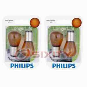 2 pc Philips Front Turn Signal Light Bulbs for GMC C1500 C1500 Suburban he