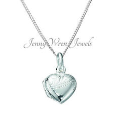 CHILDREN'S Jewellery 925 Sterling Silver necklace LOCKET & Chain