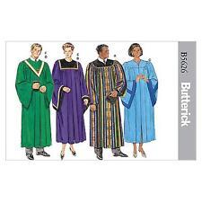 BUTTERICK SEWING PATTERN UNISEX ROBE & COLLAR CHURCH CHOIR SIZE XS-XL B5626