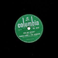 "1956 FRANKIE LYMON 78 "" I PROMISE TO REMEBER / WHO CAN EXPLAIN "" COL. DB 3819 V+"