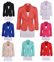 European and American self-cultivation Women Casual Work Solid Color Knit Blazer