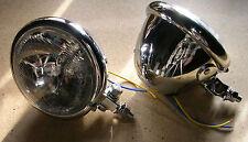 phare moto avant  feu pieces chopper lampe light 10cm headlight bates 4.5  2pc