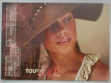 ALICIA KEYS world tour 2002 tour programme 24 pages