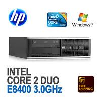 HP Compaq 6000 Pro SFF Desktop PC / Core 2 Duo E8400 3.0 GHz / 2GB / Win 7