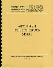 TM9 804A ~ ¼ Ton 4X4 Truck M38A1 ~ Jeep Manual ~ Reprnt