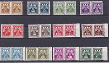 1943 Böhmen & Mähren Paare Dienstmarken Neue Zeichnung Postfrisch ** MNH