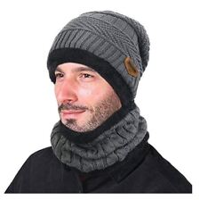 Golf Winter Beanie Stocking Hat Cap Knit Hat Thick Skull Cap for Men Women Grey