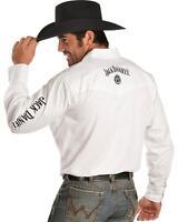 Jack-Daniels Men's White Long Sleeve Rodeo Shirt 15225006JD-01