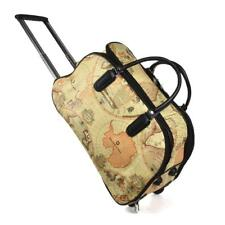 MAP OF THE WORLD WHEELED BAG HOLDALL CABIN BAG HAND LUGGAGE TROLLEY TRAVEL BAG