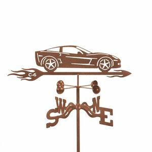 Chevy Corvette C6 Weathervane, Chevrolet Car, 'Vette Vane with Choice of Mount
