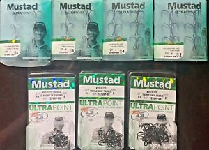 Mustad Treble Hook KVD Triple Grip Elite 1X Strong 2X Short TG76NP-BN Choose