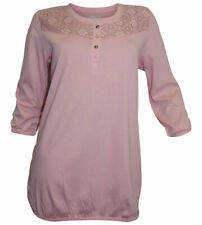 Cheer Shirt Size 40 Pink with Lace Cotton Blend NEW