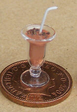 1:12 Scale Belgian Brownie Chocolate Cocktail In A Glass Dolls House Drink CT3