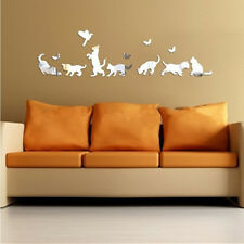 Creative 3D Box Mirror Butterflies Wall Stickers Bathroom Home Decoration