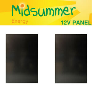 2 x 100W (200W) 12V Triple-Black Monocrystalline Solar Panel - camper/narrowboat