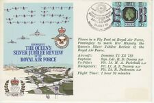 GB Stamps Souvenir Cover RAF, Queen's Silver Jubilee Review, Finningley 1977