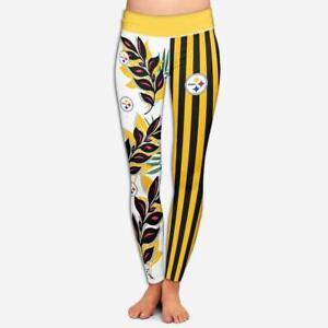 Pittsburgh Steelers Women Soft Yoga Pants High Wasit Leggings Fitness Butt Lift