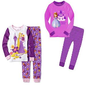 Kids Girls Fairy Tale Rapunzel Sofia Princess Pyjamas Nightwear Pyjama Set Gift