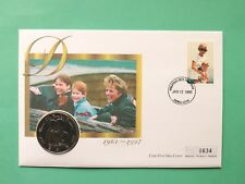 1998 Diana Princess of Wales Cover & UNC Sierra Leone 1$ Dollar coin SNo45442