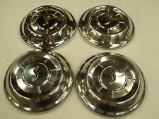 "SET OF 4 STUDEBAKER 10"" CENTER CAP COVER USED ORIG ON 1958 58 1961 61 MODELS 10"""