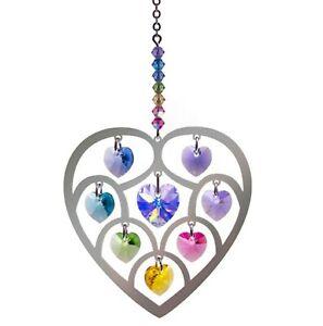 Heart Confetti Crystal window hanging suncatcher rainbow maker