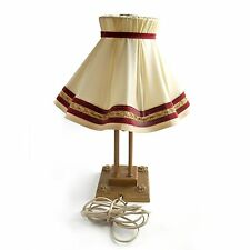antike Tischlampe Metall Vintage Lampe mit Lampenschirm alter Messing Leuchter