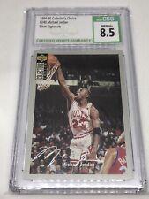 1994 Upper Deck Collectors Choice #240 Michael Jordan SILVER Signature CSG 8.5