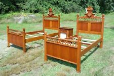 Vintage Lexington Betsy Cameron Victorian Style Pair Twin Beds