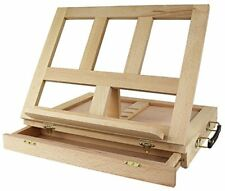 Portable Table Easel Wooden Storage Drawer Painting Drawing Drafting Artist