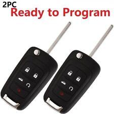 2 car key fob remote for chevy cruze equinox sonic malibu impala 2014 2015 2016