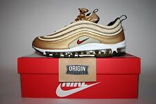 NIKE AIR MAX 97 OG QS METALLIC GOLD RED UK9/US10/EU44 BNIB 884421-700