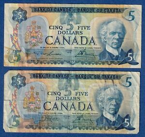 Canada $5 (1979) - Combo - 2 different Signature Sets - Circulated Notes✹CN0027✹