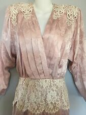 JESSICA MCCLINTOCK Lace VINTAGE Formal Prom Party Dress USA Sz 6