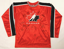 AUTOGRAPH HAND SIGNED BY 18 PLAYERS ON TEAM CANADA JERSEY SHANE DOAN RICK NASH +