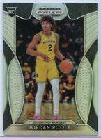 2019 Prizm Draft Picks Basketball #28 SILVER Jordan Poole Rookie Card Michigan
