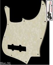 NEW PICKGUARD Jazz Bass aged pearl 3 ply pour guitare JBass