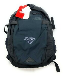 The North Face Fall Line LOGO Backpack School Bag Carry On Hiking TNF Black 28L