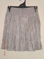 Womens Portmans Cafe Latte Coloured Mini Skirt. Kick-Pleats. Size 8.