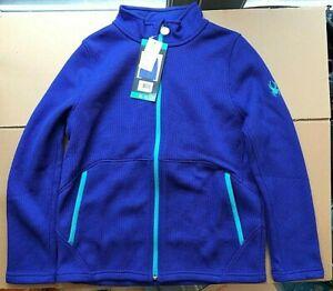Spyder Girls Endure Stryke Knit Full Zip Jacket BLUE NEW  size XL 18