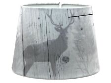Stag Lampshade Ceiling Light Shade Lamps Rustic Deer Highland Plank Bedroom