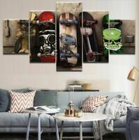 picture Wall art bedroom Poster Skateboard set of 5 Prints home decor
