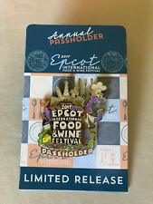 Disney Epcot International Food & Wine Festival 2017 Passholder Figment Logo Pin
