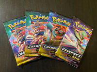 4x POKEMON CHAMPION'S PATH BOOSTER PACKS, NEW SEALED, VARIOUS ART