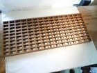 "Antique Original Oak Wood Floor Grate / Heating Vent Register Large 12"" x 30"""