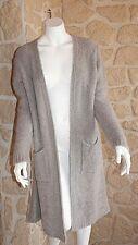 Gilet maille long gris neuf Talia Benson taille unique avec laine (sm3)