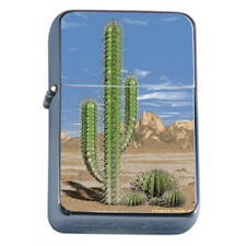Cactus and Succulents Plants D9 Flip Top Dual Torch Lighter Wind Resistant